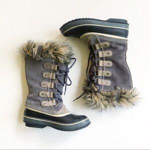 SOREL Joan of Arctic Fur Winter Boots Size 7